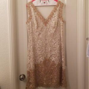Todashi Shoji Gold/Silver Dress